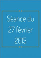 Ordre du jour - 27 février 2015