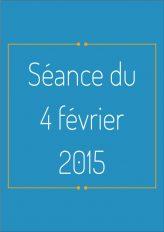 Ordre du jour - 4 février 2015