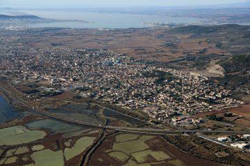vue aérienne Frontignan la Peyrade