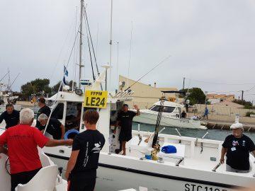 les bateaux au départ de la coupe nationale de pêche en mer