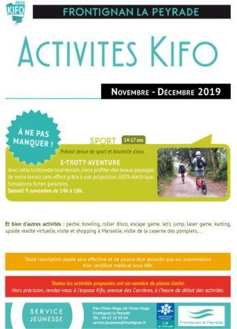 espace kifo novembre-décembre